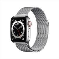 Apple Watch Series 6智能手表 GPS+蜂窝款 40毫米不锈钢表壳 米兰尼斯表带M06U3CH/A