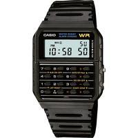 CASIO 卡西欧 Unisex Digital Calculator Black Resin Strap Watch 35mm