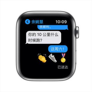 Apple Watch Series 6智能手表 GPS+蜂窝款 44毫米不锈钢表壳 米兰尼斯表带M09E3CH/A