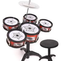 imybao 麦宝创玩 爵士鼓「三鼓-不含凳子」 6件套摇铃鼓