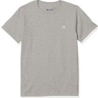 Champion  男士棉质刺绣圆领套头短袖T恤T0223 Oxford Grey M