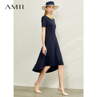 AMII Amii法式气质收腰显瘦a字连衣裙女2021新款小腰精心机赫本风裙子