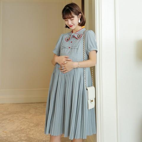 YUZHAOLIN 俞兆林 孕妇刺绣连衣裙