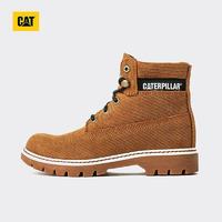 CAT 卡特彼勒 CORDUROY休闲短靴工装靴马丁靴女灰色休闲靴