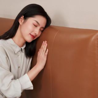 8H JMP2 Jun意式真皮软床 1.5m床 爱马仕橙