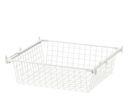 HJÄLPA 耶勒帕 网篮附拉出式挂杆 白色 60x55 cm
