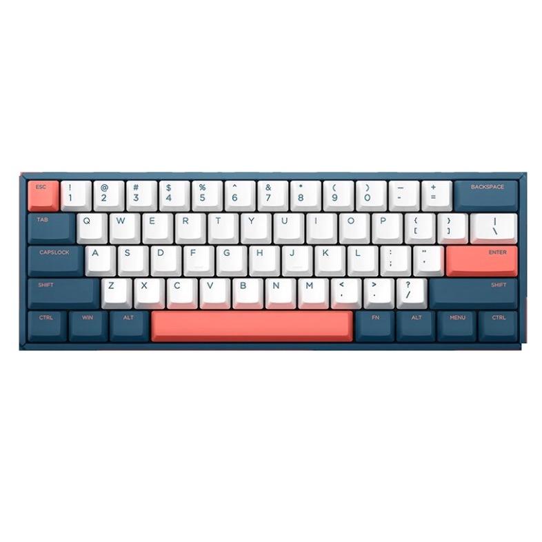 IQUNIX F60 2020 61键 有线机械键盘 珊瑚海 Cherry茶轴 无光