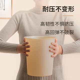 IRIS 爱丽思 爱丽思大号圆形垃圾筒家用客厅厨房分类垃圾桶无盖纸篓北欧风 ins