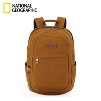NATIONAL GEOGRAPHIC 国家地理 双肩包时尚大容量休闲包15.6英寸笔记本电脑包防泼水背包  棕黄色