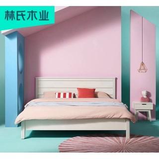 黑卡会员 : 林氏木业 DT2A 现代简约卧室双人床 杏色 1.5*2m