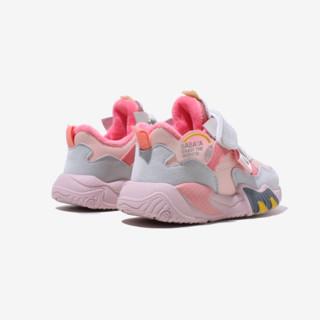 Babaya 芭芭鸭 33055 儿童休闲运动鞋 粉色 28码(脚长16.9cm)