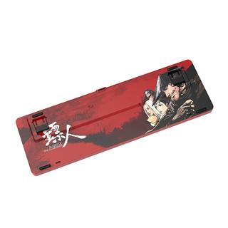 AJAZZ 黑爵 K680T 镖人定制款 68键 双模无线机械键盘 红色 国产奶黄轴 单光