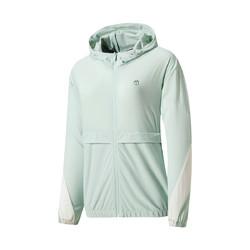 ERKE 鸿星尔克 创意图案女运动外套2021春季新款梭织上衣轻便百搭防风女上衣