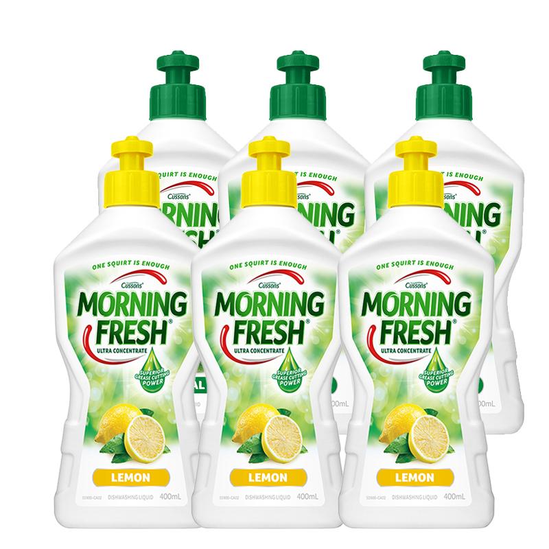 MORNING FRESH 柠檬味洗洁精 400毫升*3+原味洗洁精 400毫升*3