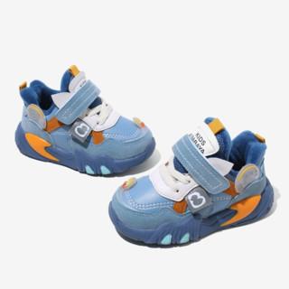 Babaya 芭芭鸭 33055 儿童休闲运动鞋 蓝色 21码(脚长13.3cm)