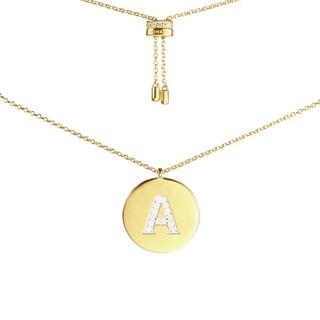 APM Monaco APM MONACO新款小众时尚圆牌金色字母女士项链锁骨链礼物