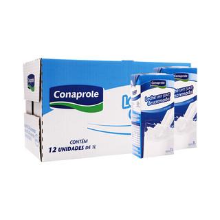 临期品 : Conaprole 卡贝乐 乌拉圭  科拿脱脂牛奶  1L*12/箱