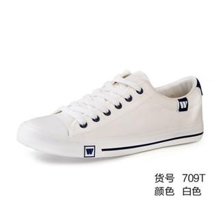 WARRIOR 回力 回力 帆布鞋男百搭男鞋子布鞋透气平底休闲鞋潮鞋秋季韩版潮流板鞋