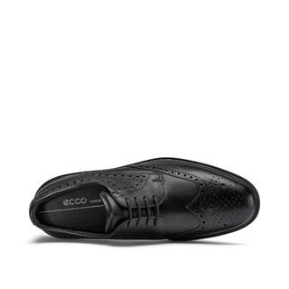 Ecco 爱步 英伦风德比鞋 正装通勤商务皮鞋男鞋 麦特兰855224 黑色 42