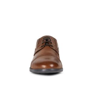 GEOX健乐士男鞋早春款DOMENICO舒适时尚商务正装鞋U029LB B 深琥珀色 42