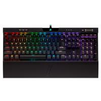 USCORSAIR 美商海盗船 K70 LUX 104键 有线机械键盘 黑色 Cherry银短轴 RGB
