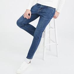 CAMEL 骆驼 牛仔裤男韩版直筒休闲长裤弹力裤子潮 DAX428126 蓝色33