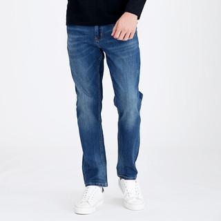 京东PLUS会员 : CAMEL 骆驼 男士牛仔裤青年直筒蓝色长裤韩版潮流裤子 DAX440070 蓝色31