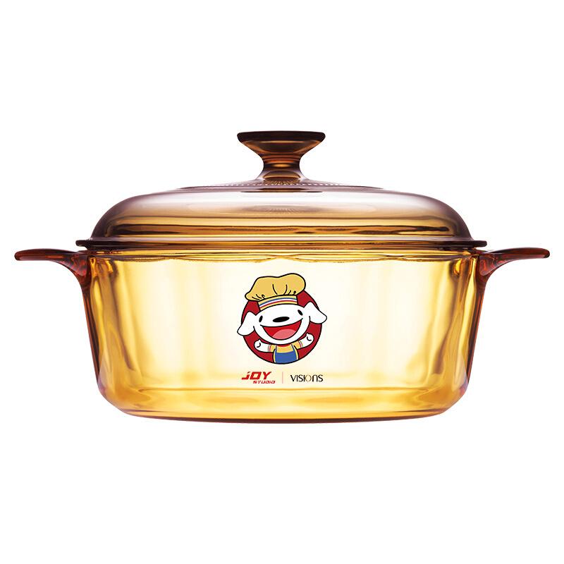 VISIONS 康宁 汤锅(20.5cm、2.25L、玻璃)