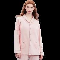 EMXEE 嫚熙 COSY舒畅系列 猫咪款月子装套装+225g哺乳口 春秋款 粉色 L