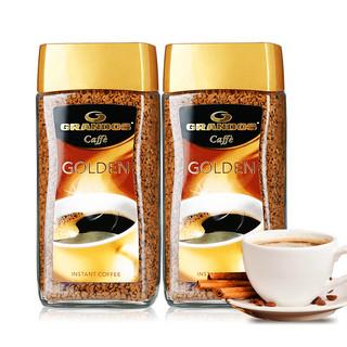 GRANDOS 格兰特  金速溶冻干纯黑咖啡100g*2瓶 德国原装进口
