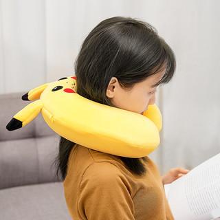 MINISO名创优品皮卡丘U型枕午睡枕头脖子U型枕旅行枕头护颈枕男女