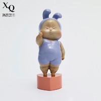 XQ 稀奇 稀奇艺术瞿广慈《baby赞》14x5x6. 5cm 雕塑 玻璃钢着色