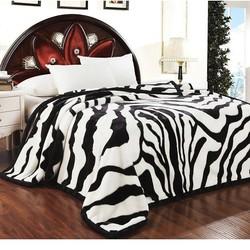 恒源祥 家纺 双人毯子床上用品春秋加厚双层拉舍尔毛毯 悦动 195*230cm/3.2kg