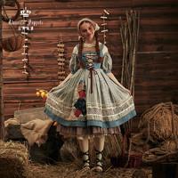 Puppets and Doll 古典玩偶 古典玩偶 灰姑娘 洛丽塔 OP有袖连衣裙 均色 S