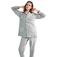 EMXEE 嫚熙 COSY舒畅系列 猫咪款月子装套装+180g哺乳口 夏薄款 灰色 M