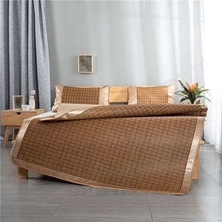 梦嘉欢  藤席三件套 夏天空调软席子  1.8m床三件套