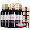 红酒整箱6支装卡诗图赤霞珠干红葡萄酒6瓶礼盒装酒庄直供法国进口