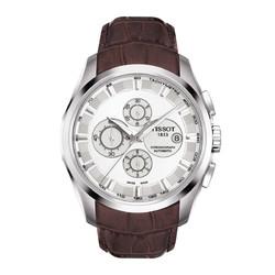 TISSOT 天梭 天梭TISSOT库图系列自动机械男表皮带蝴蝶扣手表