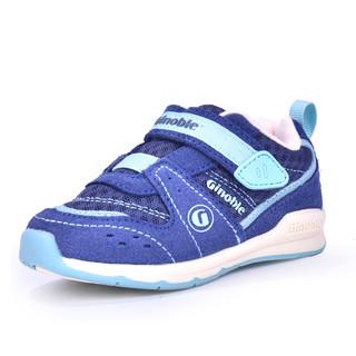 基诺浦秋季款宝宝学步鞋男女童鞋儿童机能鞋防滑运动鞋 TXG771(9码、夜影蓝/水蓝TXG771,)