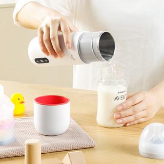 德尔玛电热水杯小型便携式保温一体烧水加热旅行水壶多功能电炖杯