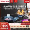 Rinnai/林内 2WLGM 安芯防干烧燃气灶具嵌入式天然气家用节能定时