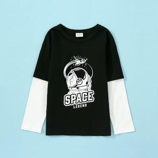 Badibadi 巴帝巴帝 巴拉巴拉旗下夏季新款男童休闲童趣长袖T恤