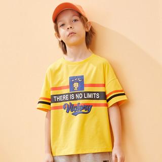 Badibadi 巴帝巴帝 巴拉巴拉旗下男童t恤短袖运动学院儿童半袖t上衣