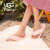 UGG秋季女士拖鞋平底休闲时尚潮流蝴蝶结仙女毛绒拖鞋 1100250(40、AGL | 龙舌兰蓝色)