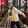 法国觅乐MILLET男女台风款防风透气防水四面弹冲锋衣MIV01479(M、男-墨黑)