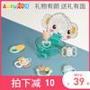 澳貝寶寶玩具手搖鈴可安全水煮磨牙棒0-6個月新生幼嬰兒牙膠禮盒(461514A-放心煮搖鈴6pcs)
