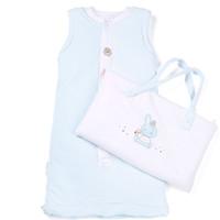 Purcotton 全棉时代 婴儿睡袋 浅蓝色