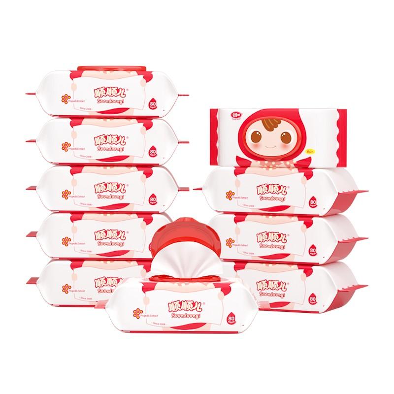 PLUS会员 : soondoongi 顺顺儿 婴儿湿巾 80抽*10包