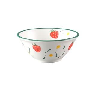 点恒兔 草莓反口陶瓷碗 5英寸