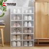 tenma天马株式会社加厚透明鞋盒自由组合塑料男女简易鞋盒6个装